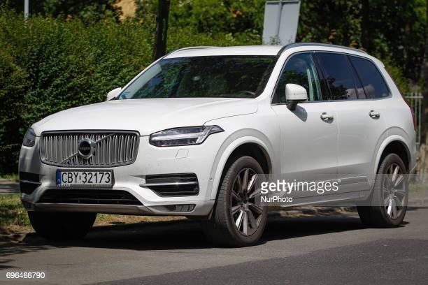 A Volvo XC90 luxury SUV is seen parked near the Vincent de Paul basilica on 15 June 2017