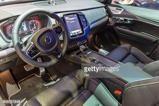 Volvo Midsize Luxury Crossover Suv Interior Stock Photo