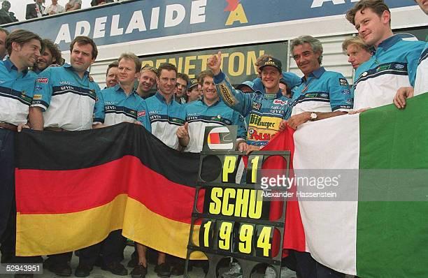 GP von AUSTRALIEN 1994 Adelaide WELTMEISTER Michael SCHUMACHER/BENETTON FORD
