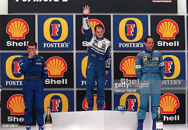 GP von BRASILIEN 1997 Sao Paulo 3 Olivier PANIS Sieger Jacques VILLENEUVE 2 Gerhard BERGER