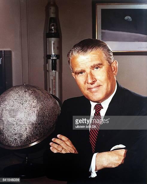 WERNHER von BRAUN German rocket engineer Photographed in the 1960s