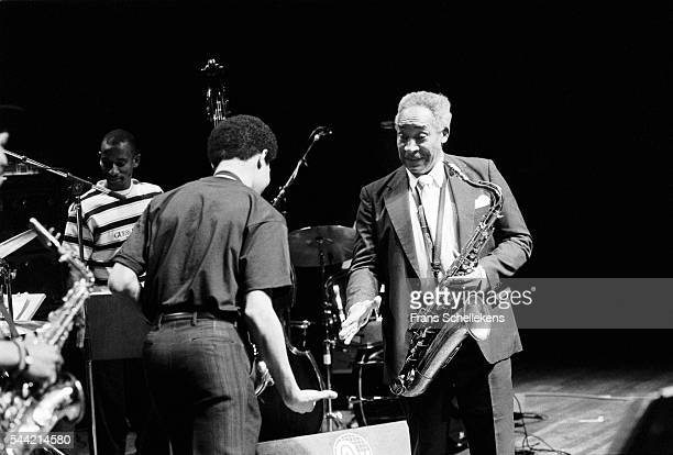 Von Freeman tenor saxophone performs with Steve Coleman at the Jazzmarathon on December 7th 1990 in the Oosterpoort in Groningen the Netherlands