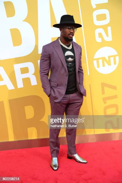 Von Miller of the Denver Broncos on the red carpet at the NBA Awards Show on June 26 2017 at Basketball City at Pier 36 in New York City New York...