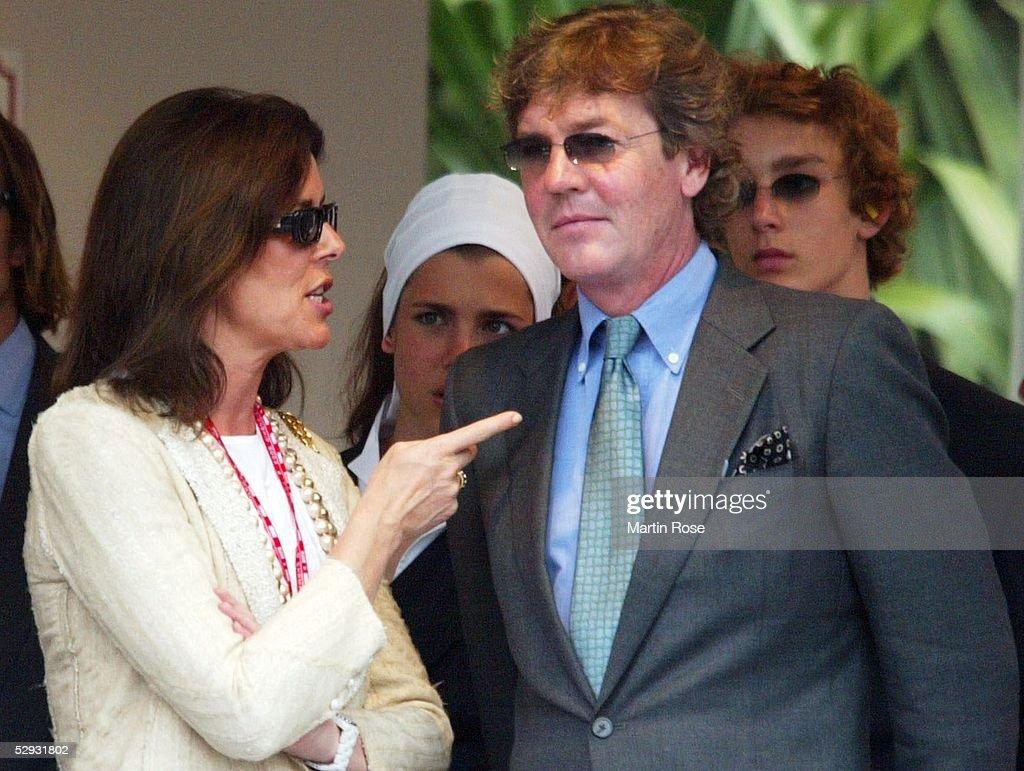 GP von Monaco 2003, Monte Carlo; Prinzessin CAROLINE von Monaco, Prinz ERNST AUGUST von Hannover