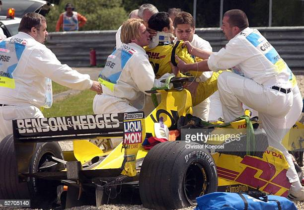 GP von OESTERREICH 2002 Spielberg UNFALL Takuma SATO/JPN JORDAN HONDA