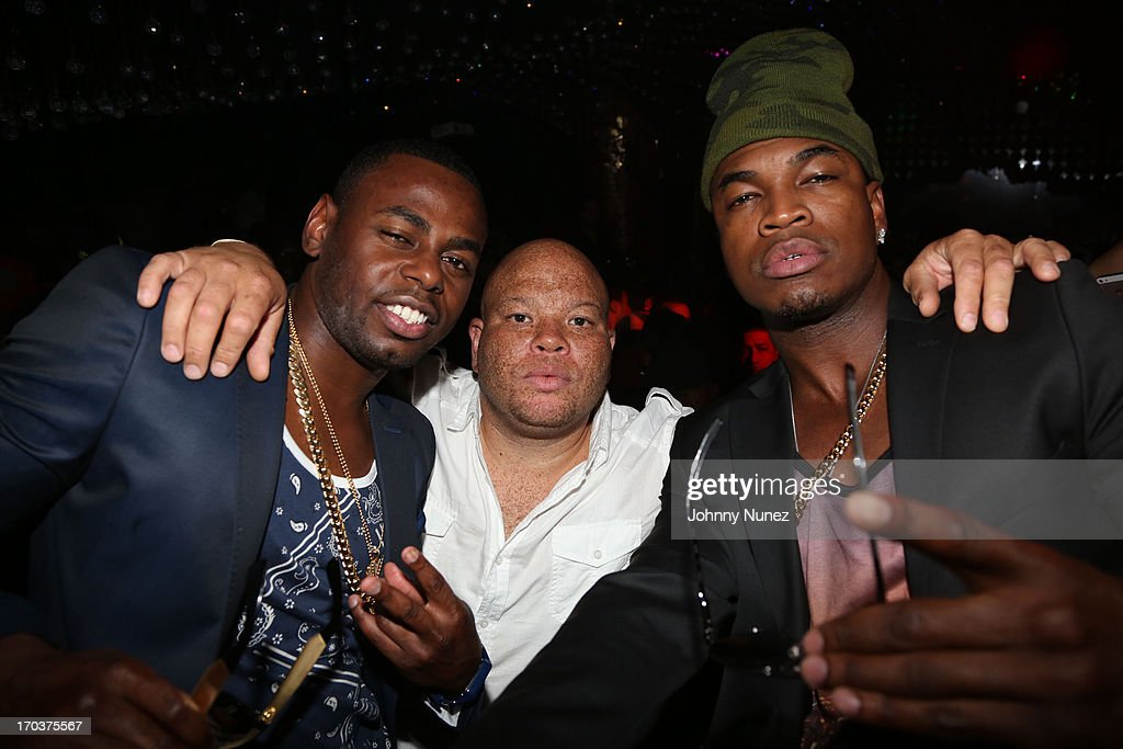 Von Smith, Shawn 'Pecas' Costner and Ne-Yo attend Von Smith's Birthday Party at Greenhouse on June 11, 2013 in New York City.