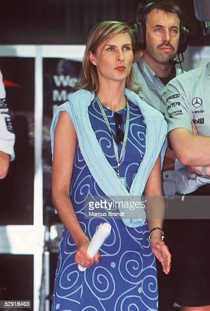 GP von SPANIEN 1997 Barcelona FREUNDIN von Mika HAEKKINEN