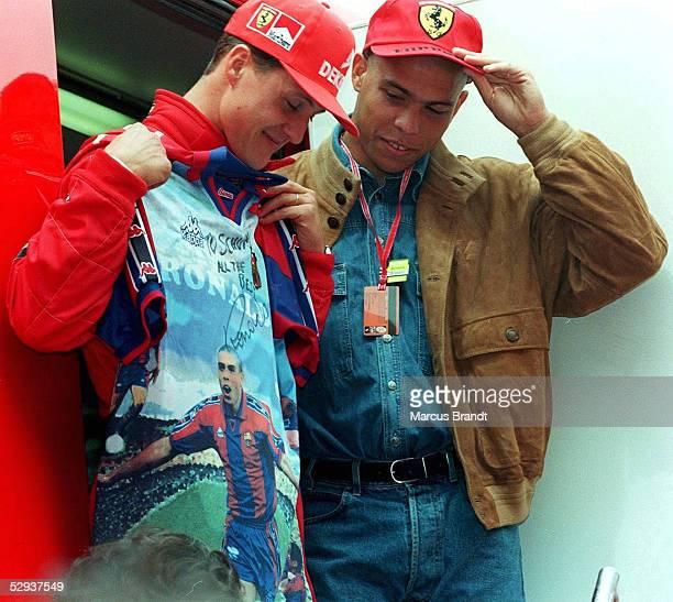 GP von SPANIEN 1997 Barcelona Michael SCHUMACHER RONALDO/Fussballspieler