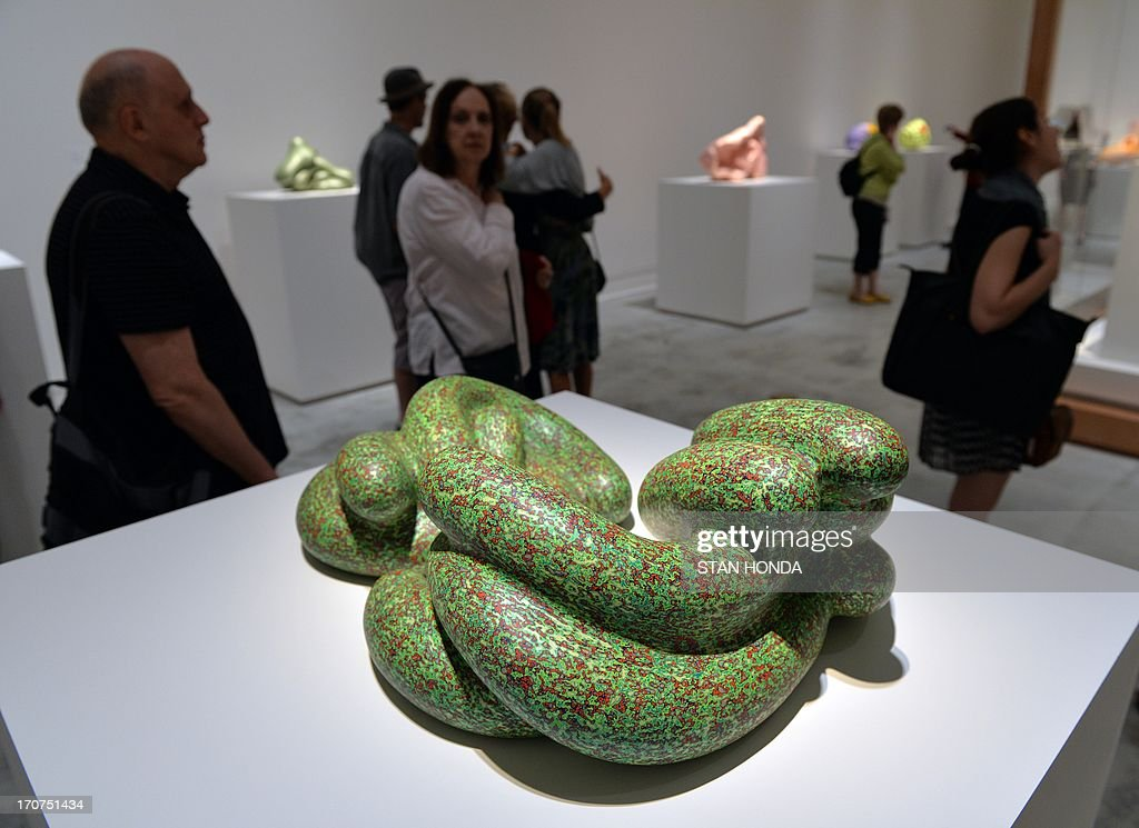 CAPTION 'Vona, 2008' by artist Ken Price during a preview of 'Ken Price Sculpture: A Retrospective' June 17, 2003 at the Metropolitan Museum of Art in New York. AFP PHOTO/Stan HONDA