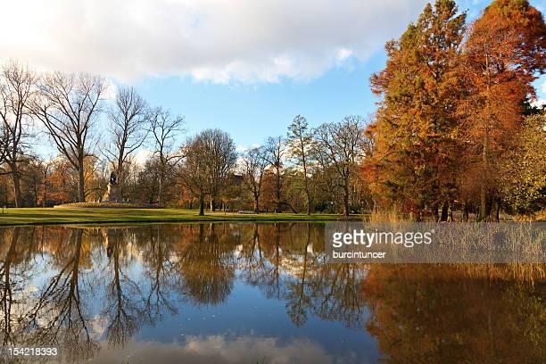Vondelpark in Autumn colors, Amsterdam, the Netherlands