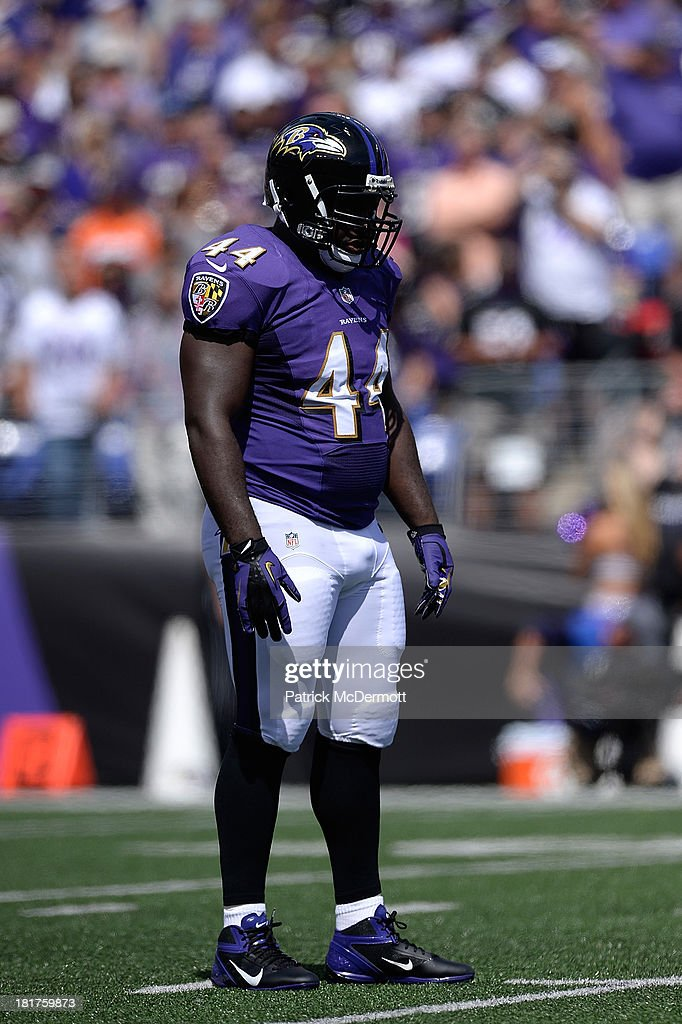 Vonta Leach of the Baltimore Ravens in action during a game against the Cleveland Browns at MT Bank Stadium on September 15 2013 in Baltimore Maryland