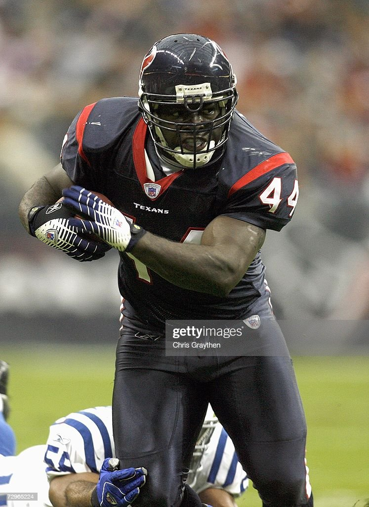 Vonta Leach of the Houston Texans carries the ball during the game against the Indianapolis Colts on December 24 2006 at Reliant Stadium in Houston...