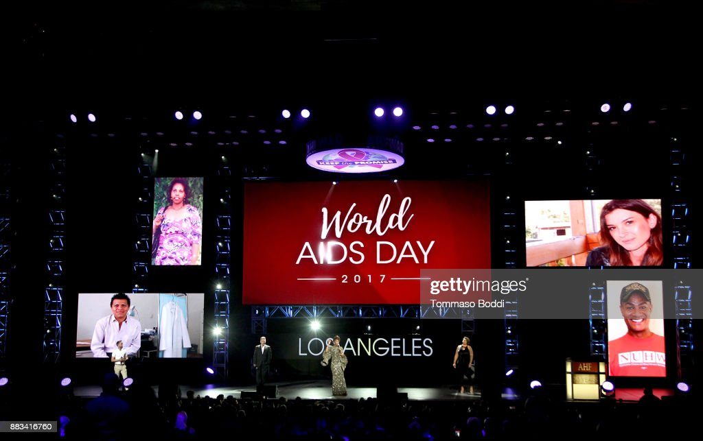 Vonzell Solomon performs onstage during the AHF World AIDS DAY Concert and 30th Anniversary Celebration featuring Mariah Carey and DJ Khaled at the Shrine Auditorium on November 30, 2017 in Los Angeles, California.