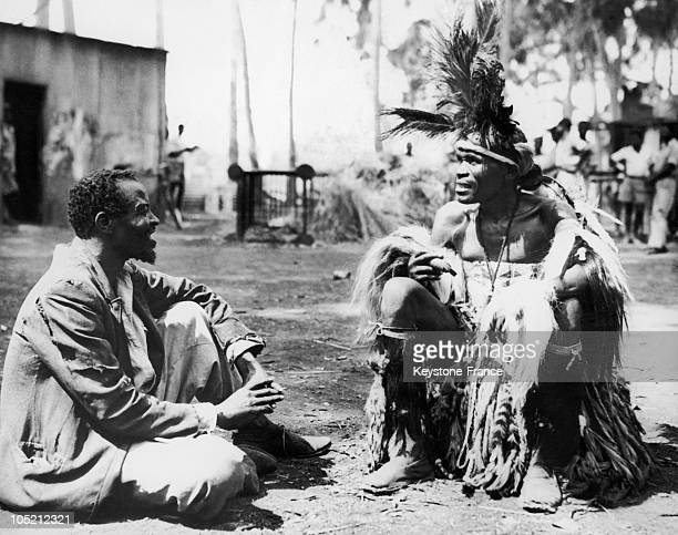 Voodoo Doctor Lavishing Advice On March 4 1959 In Nyassaland
