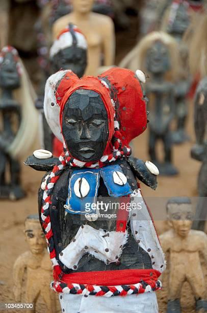 Voodoo dolls on local market, Lome Voodoo Fetish Market, Lome, Togo