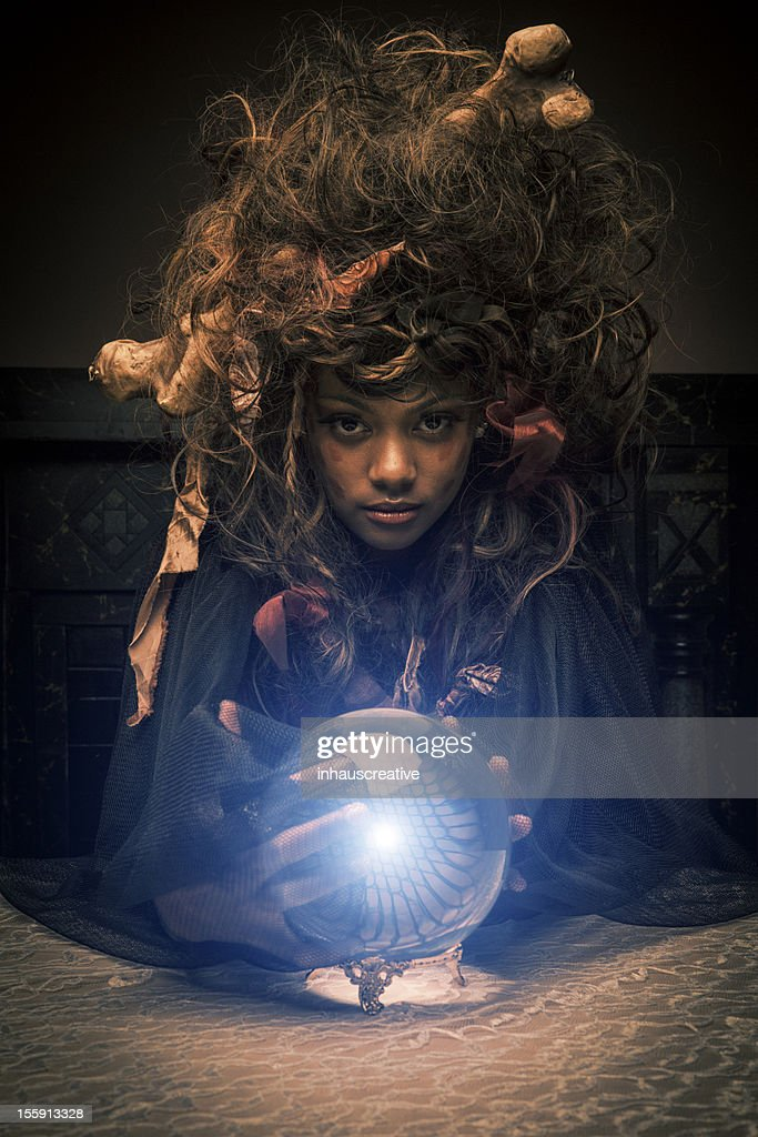 Voodoo Priestess with magic ball