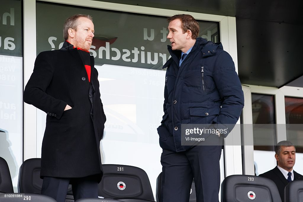 voorzitter Albert de Jong of Excelsior, General Director Ferry de Haan of Excelsior during the Dutch Eredivisie match between Excelsior Rotterdam and ADO Den Haag at Woudenstein stadium on February 14, 2016 in Rotterdam, The Netherlands