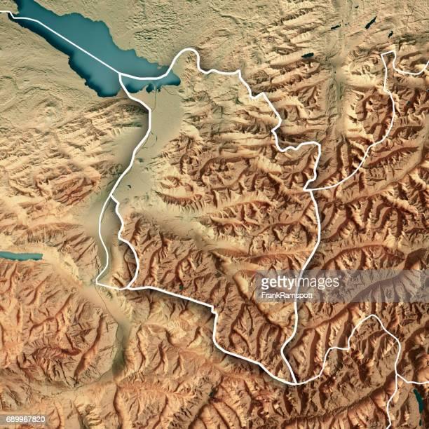 Vorarlberg Bundesland Austria 3D Render Topographic Map Border