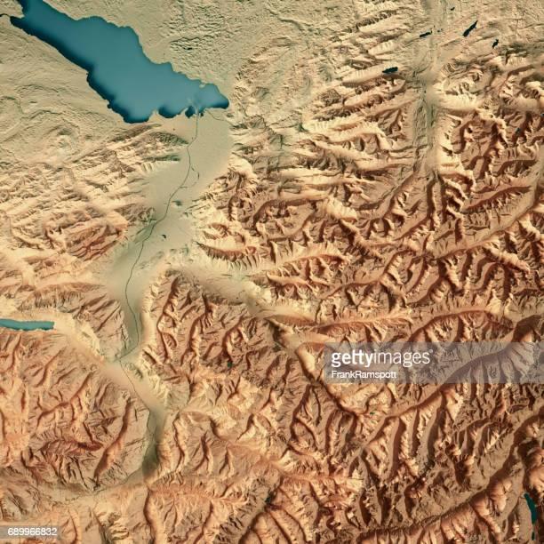 Vorarlberg Bundesland Austria 3D Render Topographic Map