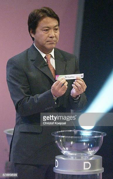 WM 2006 Vorrunden Auslosung Frankfurt Yasuhiko OKUDERA zog die Lose fuer Asien