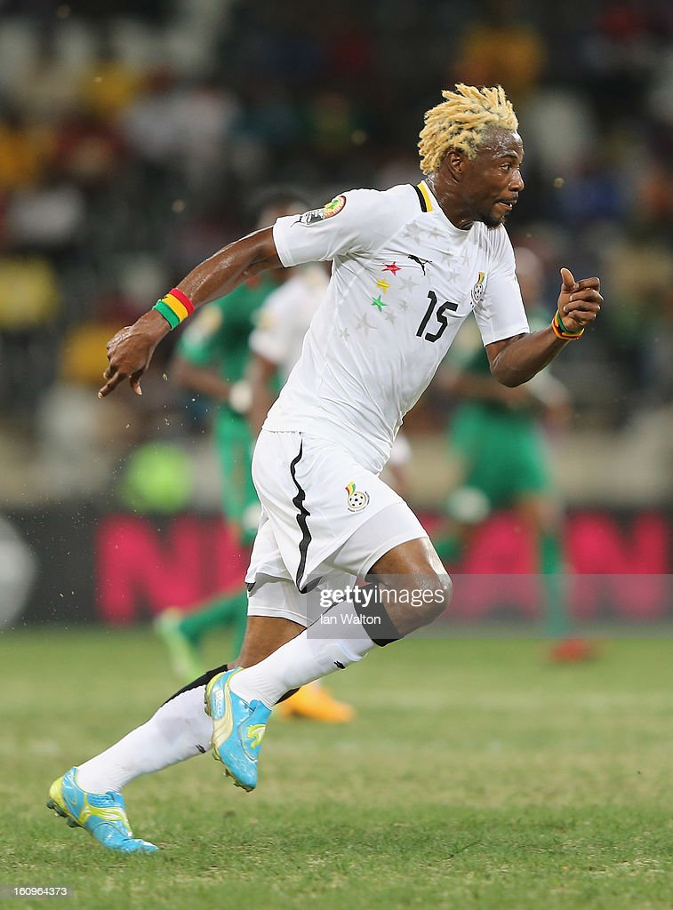 Vorsah Isaac of Ghana in action during the 2013 Africa Cup of Nations Semi-Final match between Burkina Faso and Ghana at the Mbombela Stadium on February 6, 2013 in Nelspruit, South Africa.