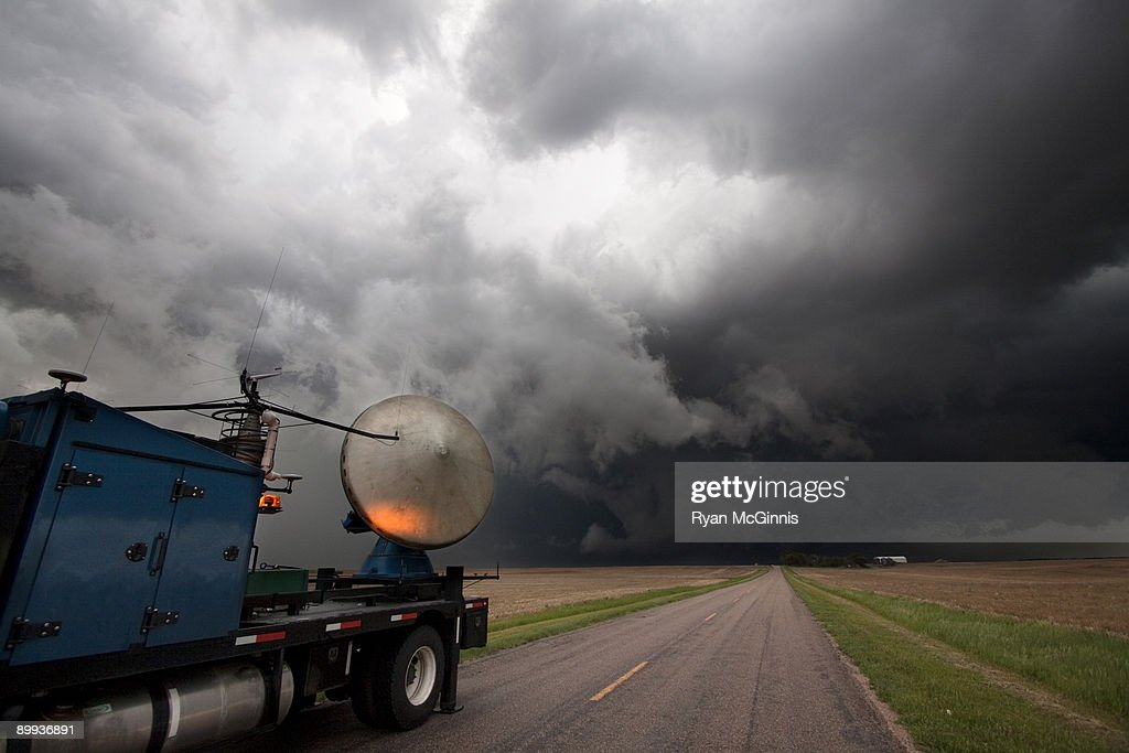 Vortex 2 Weather Research Radar : Stock Photo