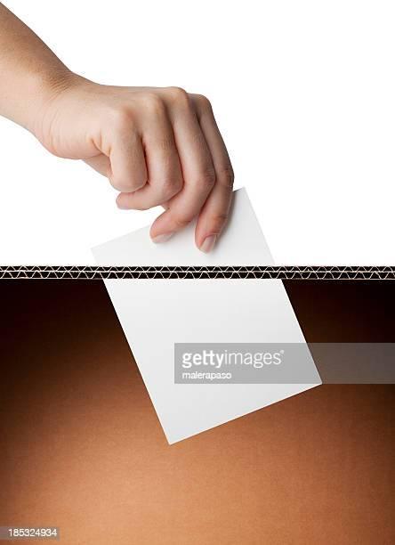 Vote. Urne électorale.