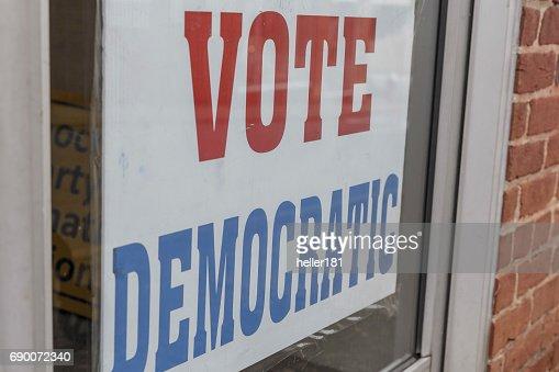 vote democratic : Stock Photo