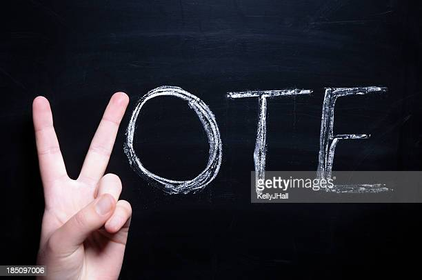 Vote des mains de Jeune adulte