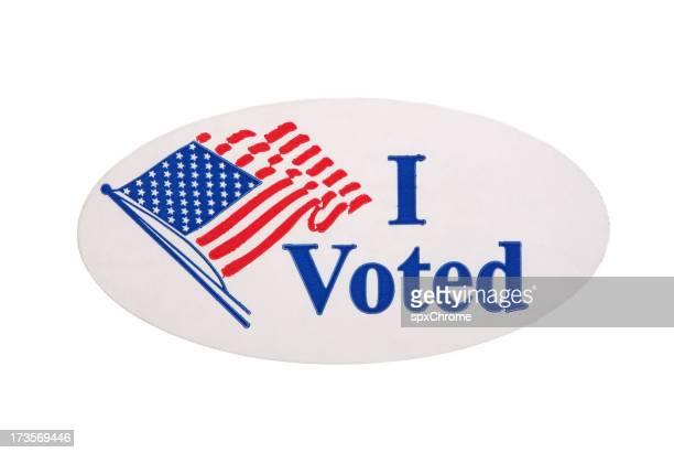 J'ai voté autocollant
