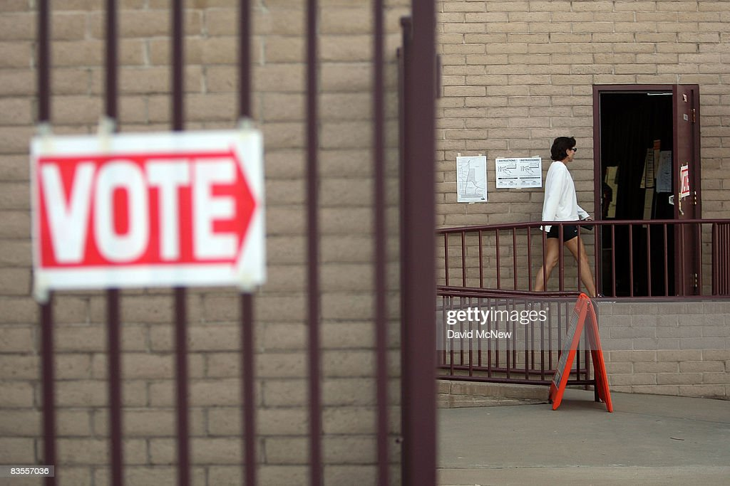 A voter has no line to stand in at a polling place despite reports of long lines at some other polling sites in the home state of Republican...