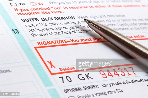 Voter Registration Form Stock Photo | Getty Images