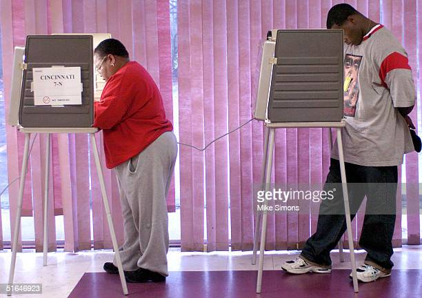 Voters cast their ballots November 2 2004 in Cincinnati Ohio Ohio is seen as an important battleground state with polls showing it could go either to...