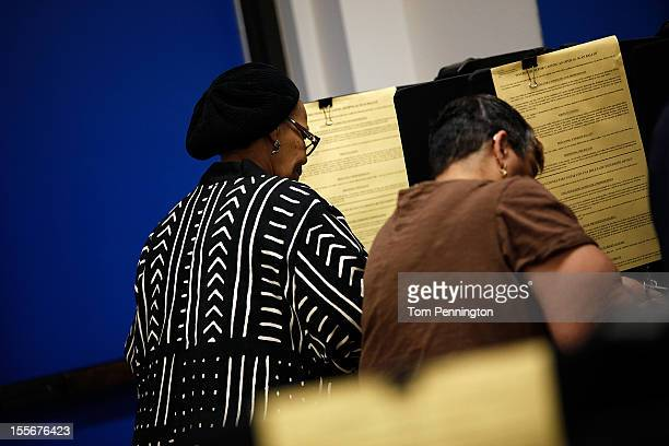 Voters cast their ballots on November 6 2012 in Fort Worth Texas United States Americans across the country participate in election day as President...