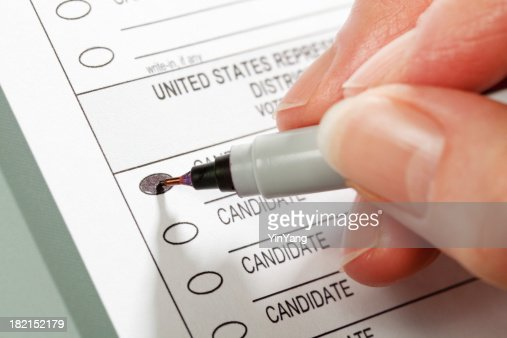 Voting Ballot for United States House of Representatives Election Hz