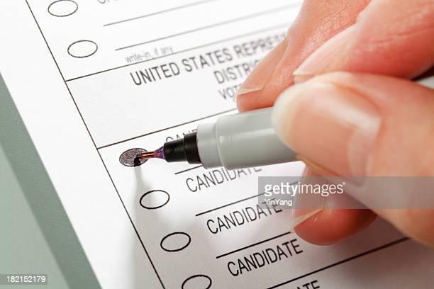 Bulletin de vote pour les États-Unis-Chambre des représentants élection Hz