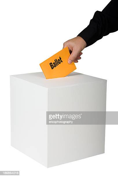 Voting by a man