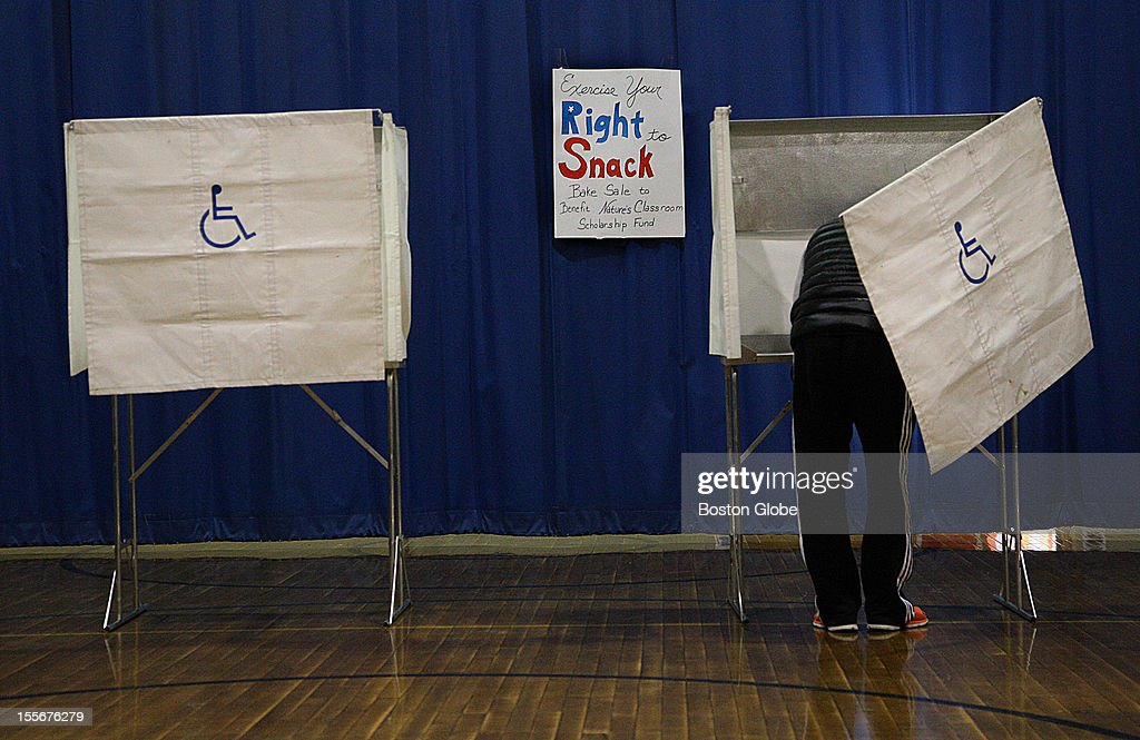 Voting in the presidential election at the Graham and Parks School in Cambridge, Mass., Nov. 2, 2012.