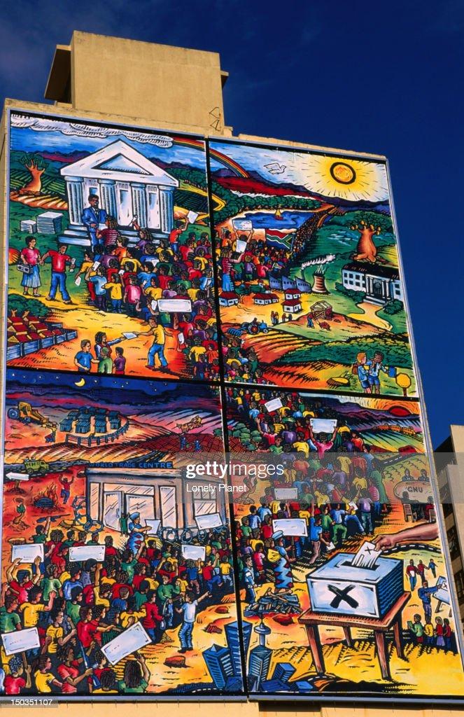 Voting mural, Parliament Street. : Stock Photo