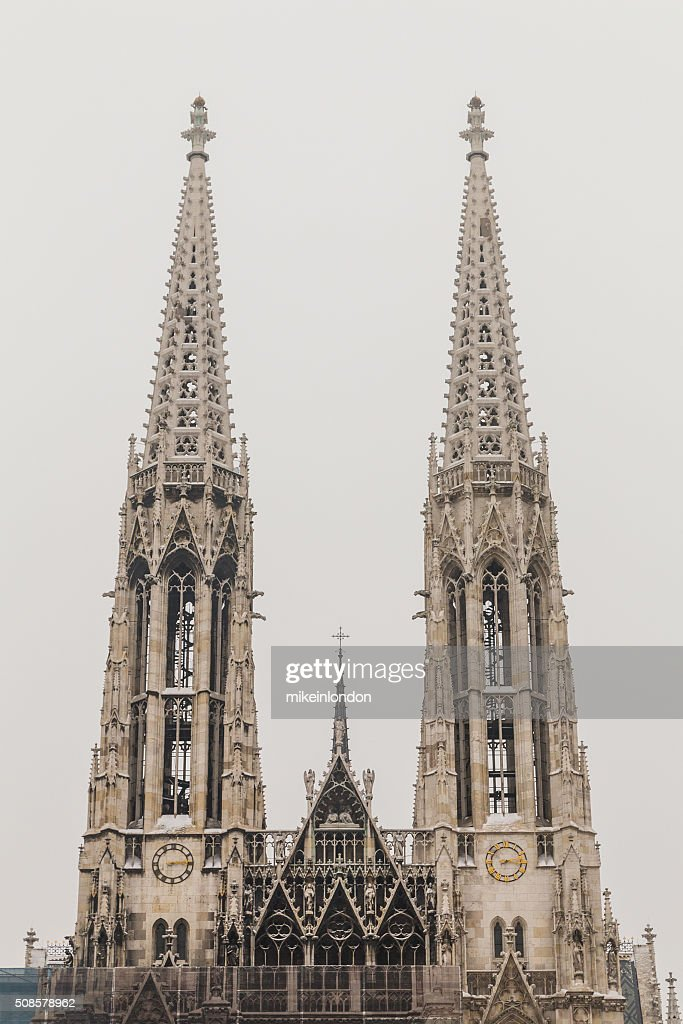 Votive Church in Vienna in the winter : Stock Photo