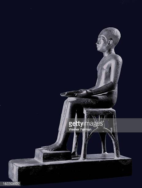 A votive statuette of Imhotep the architect of Djoser who built the step pyramid He was revered for his healing skills and was later deified as the...