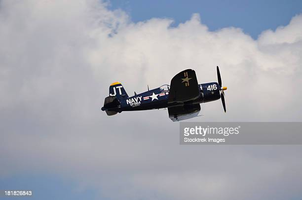 A Vought F4U Corsair in flight near Lakeland, Florida.