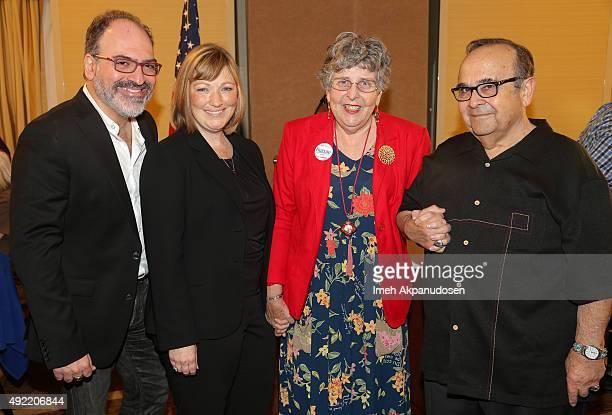 DAA Vox Populi Award recipient Charlie Vignola Rising Star Award recipient Julie Olsen Lifetime Activist Award recipient Carole Lutness and Santa...