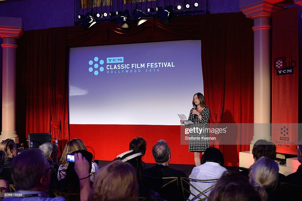VP/Brand Creative Director at TCM Pola Changnon speaks onstage at 'The Art of the Filmscore: Creating Memories in the Movies' during day 4 of the TCM Classic Film Festival 2016 on May 1, 2016 in Los Angeles, California. 25826_005