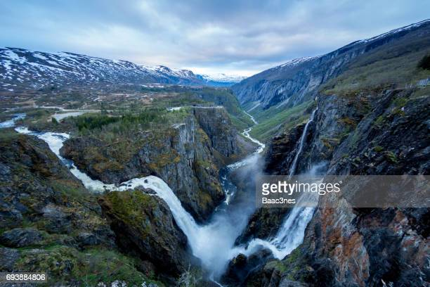 Vøringfossen waterfall in Eidfjord, Norway