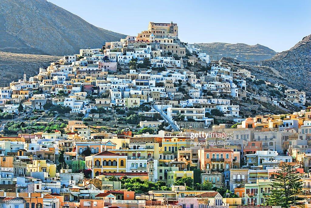 Vrodado hill, town of Ermoupolis, Syros