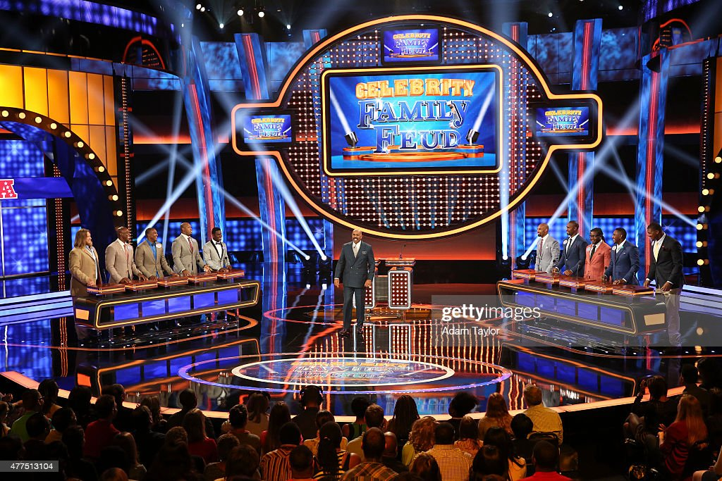 FEUD - 'NFL AFC vs NFC and Dancing with the Stars vs The Bachelor' -- 'Celebrity Family Feud' will feature players from the National Football League Players Association (NFLPA), and in a separate game, professional dancers from 'Dancing With the Stars' and popular participants from the romantic reality shows 'The Bachelor' and 'The Bachelorette' will spar off against each other to win money for a charity of their choice. Hosted by <a gi-track='captionPersonalityLinkClicked' href=/galleries/search?phrase=Steve+Harvey&family=editorial&specificpeople=210865 ng-click='$event.stopPropagation()'>Steve Harvey</a>, the highly popular multi-hyphenate standup comedian, actor, author, deejay and Emmy Award-winning talk show and game show host, this episode of 'Celebrity Family Feud' airs SUNDAY, JUNE 28 (8:00-9:00 p.m., ET/PT) on the ABC Television Network.