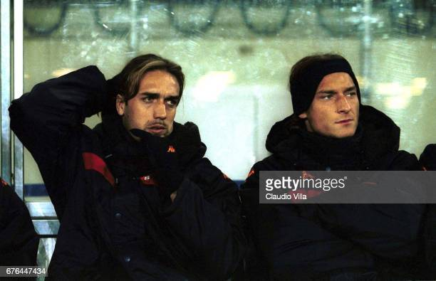 3 Francesco TOTTI and Gabriel BATISTUTA of Roma in the bench