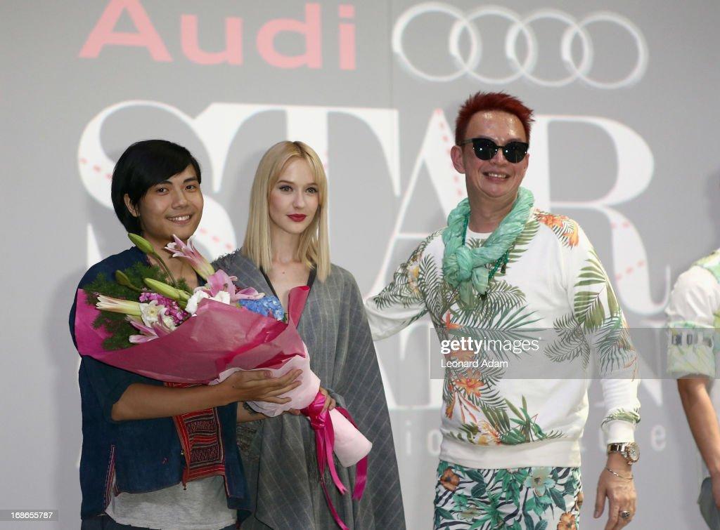Vu Ta Linh winner at the Audi Star Creation Runway Showdown event at Tent @ Marina Promenade on May 13, 2013 in Singapore.