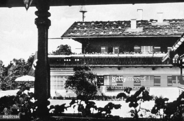 Vue du Berghof la résidence d'Adolf Hitler dans l'Obersalzberg en Allemagne